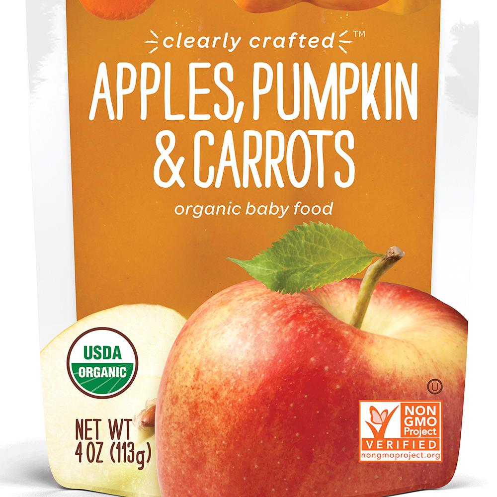 美國 HappyBABY 精透系列有機嬰兒食品: 蘋果+南瓜+紅蘿蔔