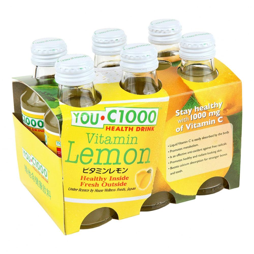 You.C1000 Vitamin 6's bottles 140mlx6 (Lemon)