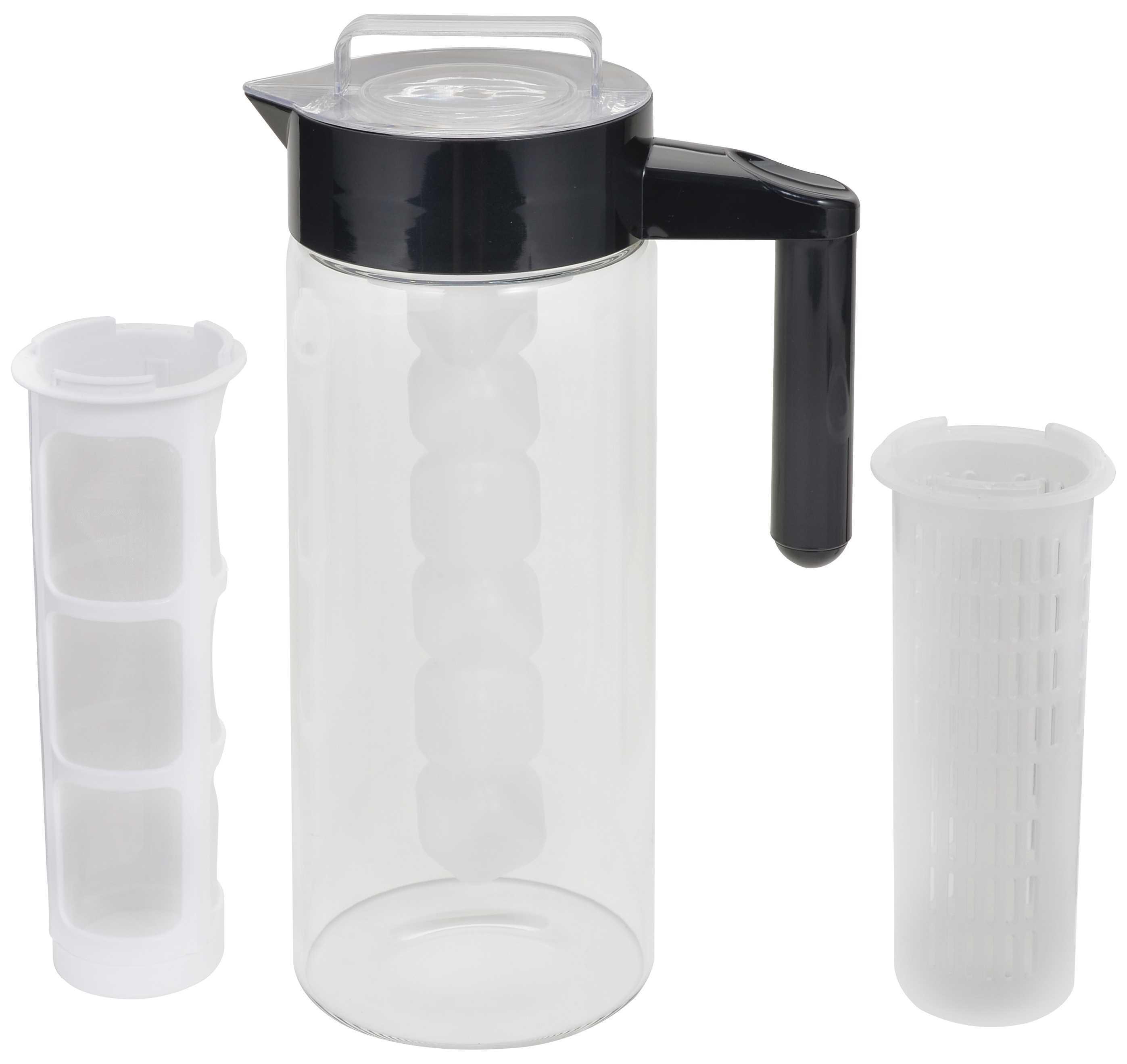多用途耐熱玻璃冷水瓶1.3公升(黑色)