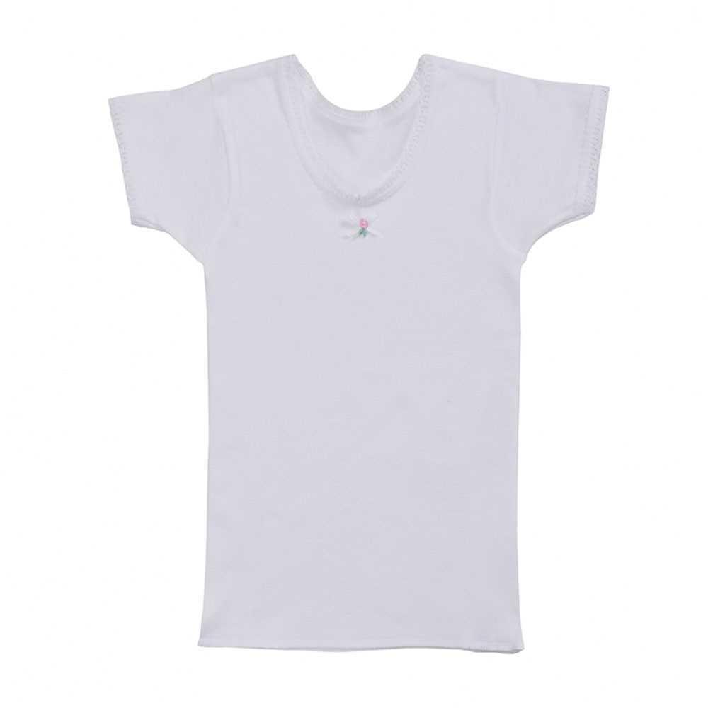 Gunze 女童100%全棉圓領短袖內衣 TA84502-84802 (日本製).