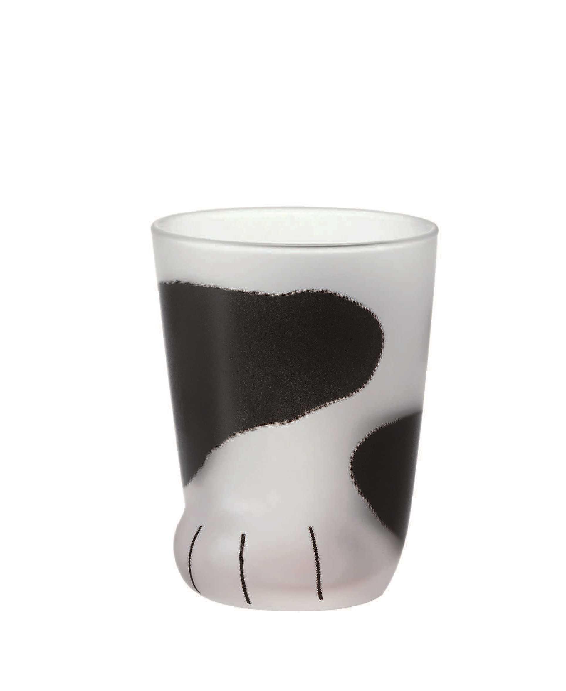 Aderia Coconeco系列猫脚玻璃杯230ml(黑白猫)6678