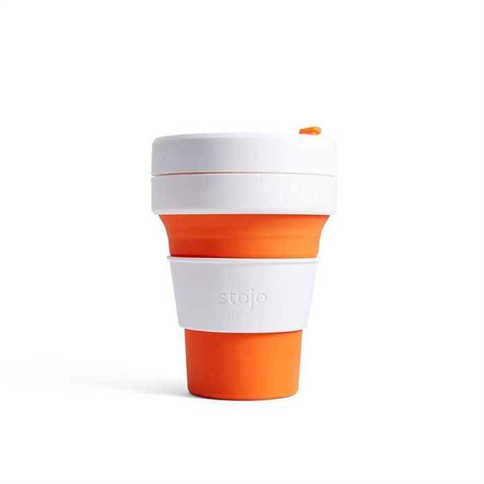 Stojo Pocket Cup 355ml (Orange) S1-ORG