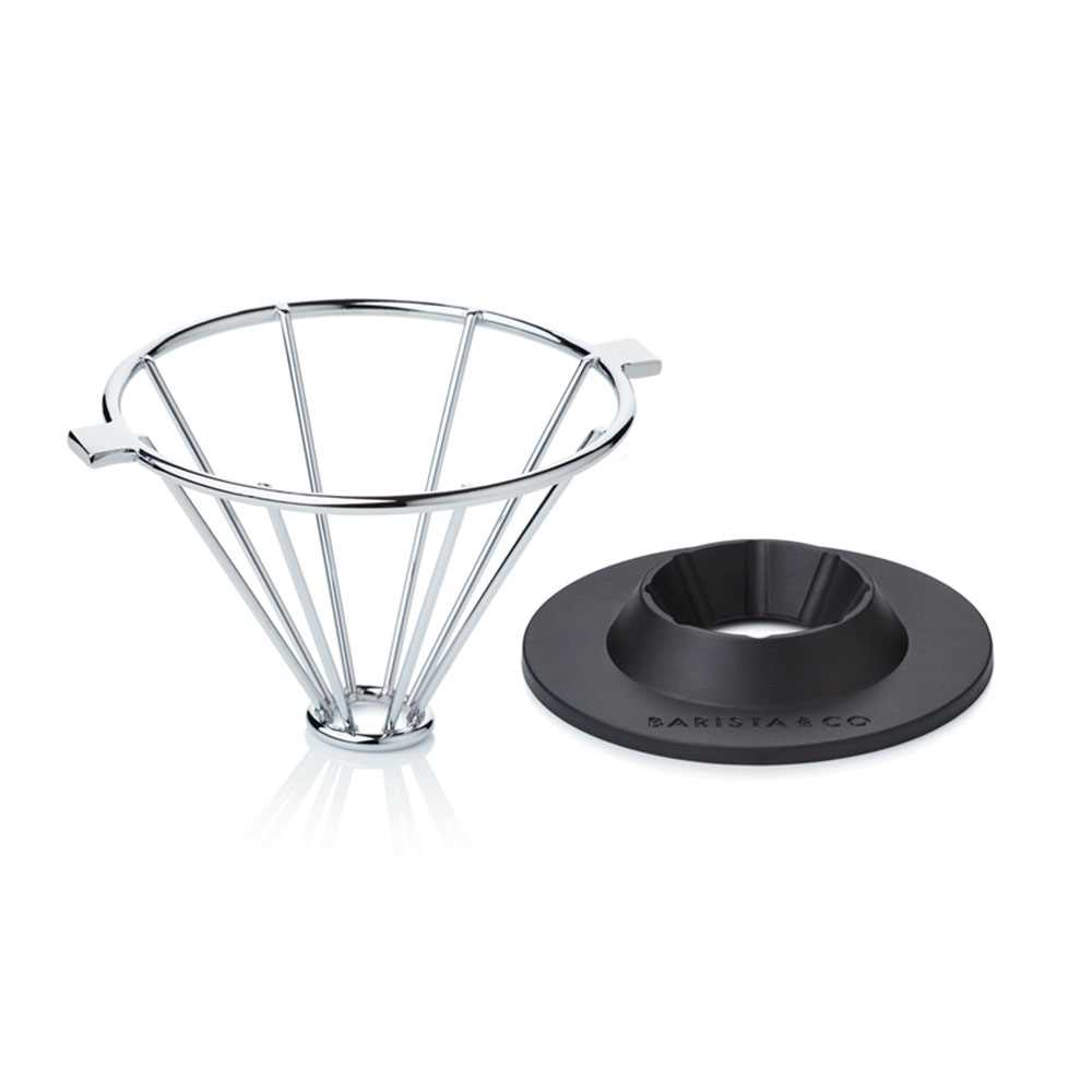 Barista & Co. Corral Pour Over Coffee Maker(Steel)