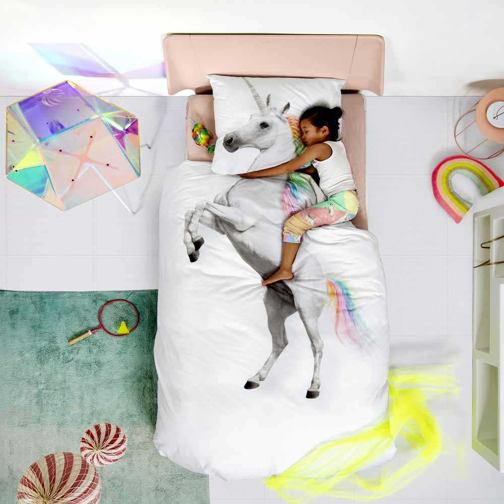 The Netherlands Brand Snurk 100% Cotton Printed Sngle Bedlinen Set (Unicorn)