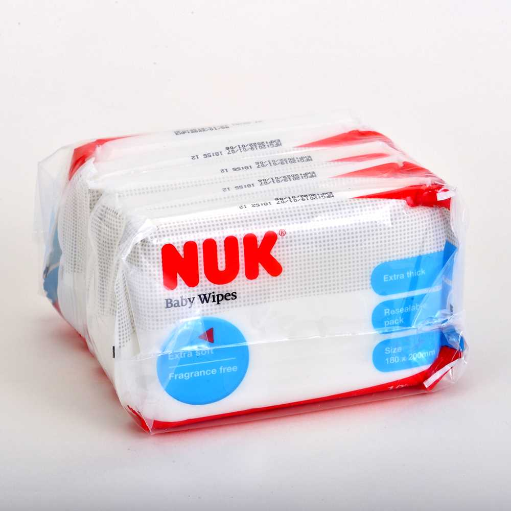 NUK婴儿厚身湿纸巾(10片装X5)