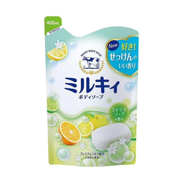 日本Cow Milky牛奶精華沐浴露補充裝400毫升(高雅柚香)