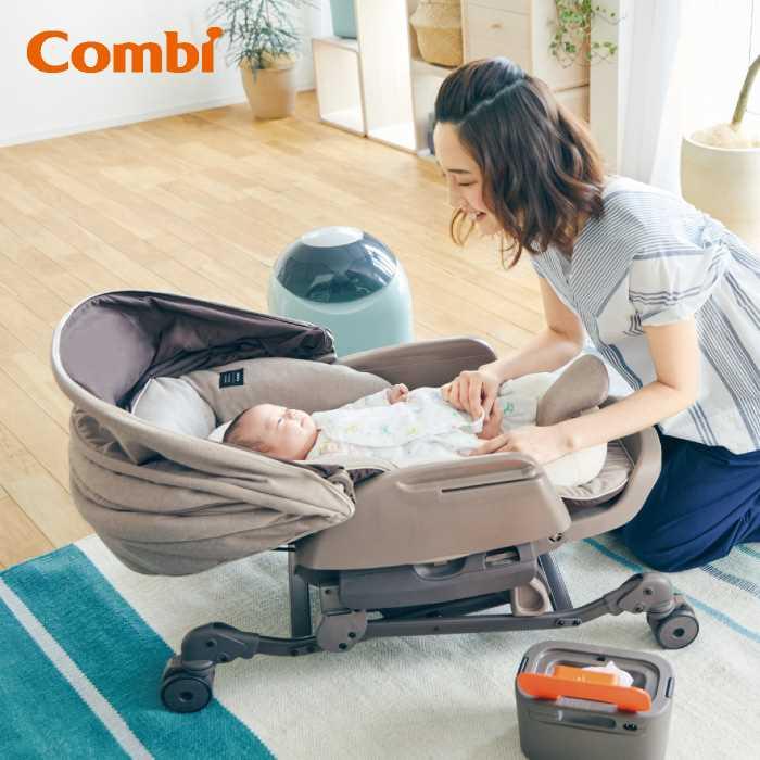 Combi 婴儿安抚餐椅床Bedi112975-沙棕色