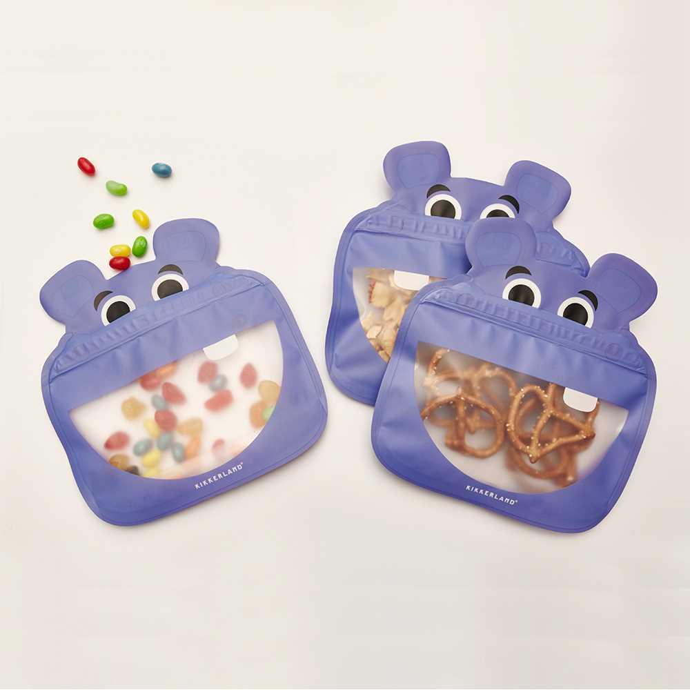Kikkerland 食物袋3个装-河马