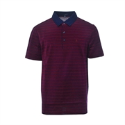 Montagut Cotton Striped Polo Shirt TSS1111532-Red