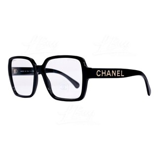 Chanel 金色logo平光眼鏡