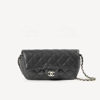 Chanel 經典款鏈條眼鏡盒 (黑)
