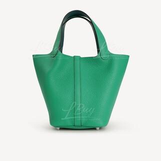 Hermes Picotin Lock 18 Bag 手挽袋 Menthe 新薄荷綠拼Vert Bosphore