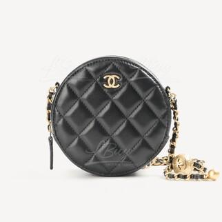 Chanel 小金球小圓餅手袋
