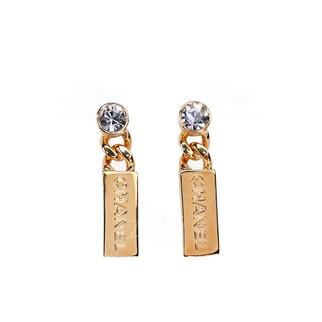 Chanel 金屬及水晶耳環