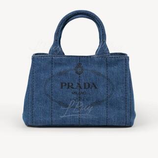 Prada Denim 藍色牛仔布手袋單肩袋
