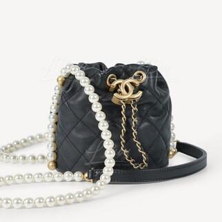 Chanel 迷你索繩仿珍珠鍊帶 手袋斜揹袋