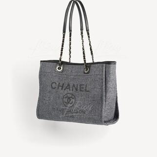 Chanel Deauville Medium Tote Bag 灰黑色 中號手挽袋