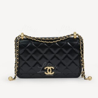 Chanel 新款小金球 小牛皮 WOC鏈帶包