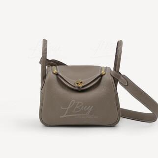 Hermes Lindy Mini Bag 單肩手袋 大象灰 金扣
