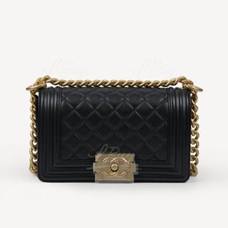 Boy Chanel 金扣 細號手袋
