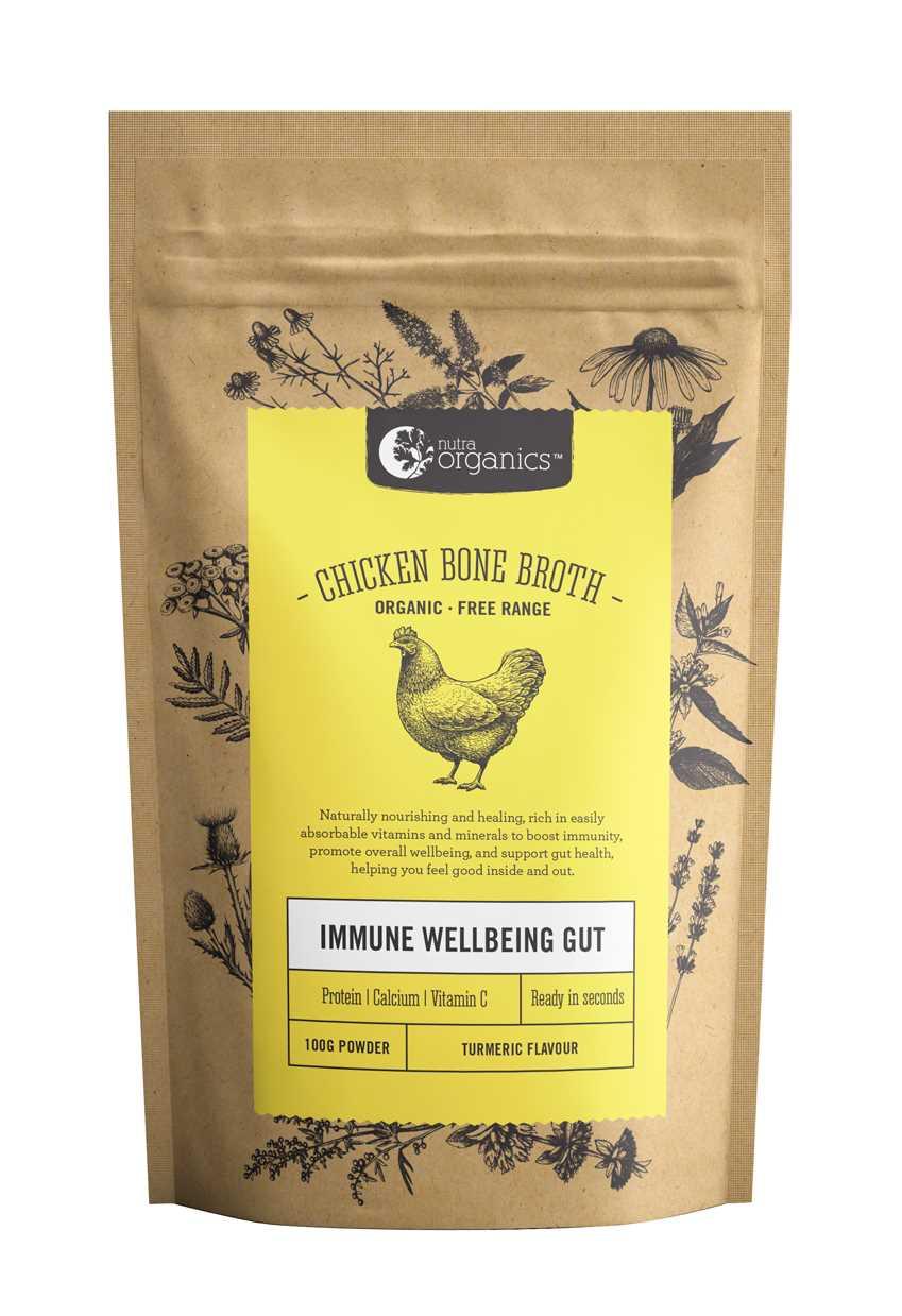 Nutra Organics 有機營養走地雞骨濃湯 ( 薑黃素 )  100g