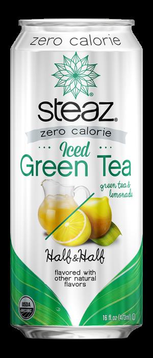 Steaz Zero Calorie Iced Green Tea (Half & Half)