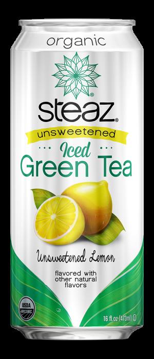 Steaz Organic Unsweetened Iced Green Tea (Lemon)