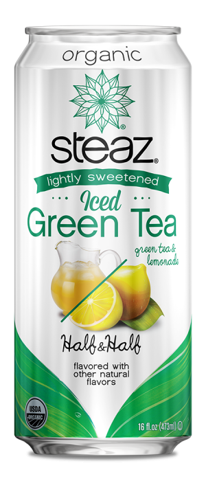 Steaz Organic Lighty Sweetened Iced Green Tea (Half & Half)
