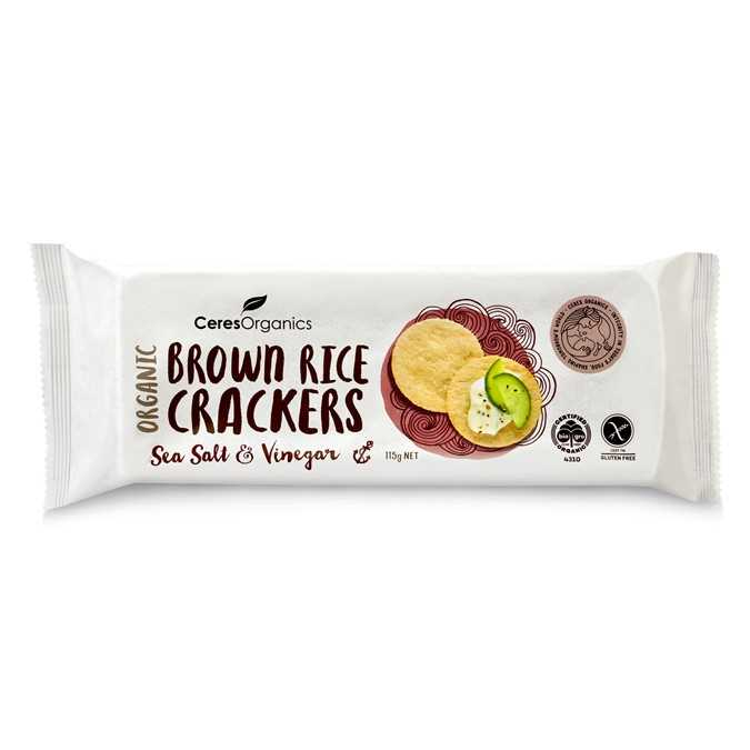Ceres Organics Brown Rice Crackers(Sea Salt & Vinegar)