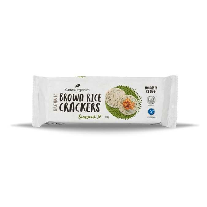 Ceres Organics Brown Rice Crackers Seaweed