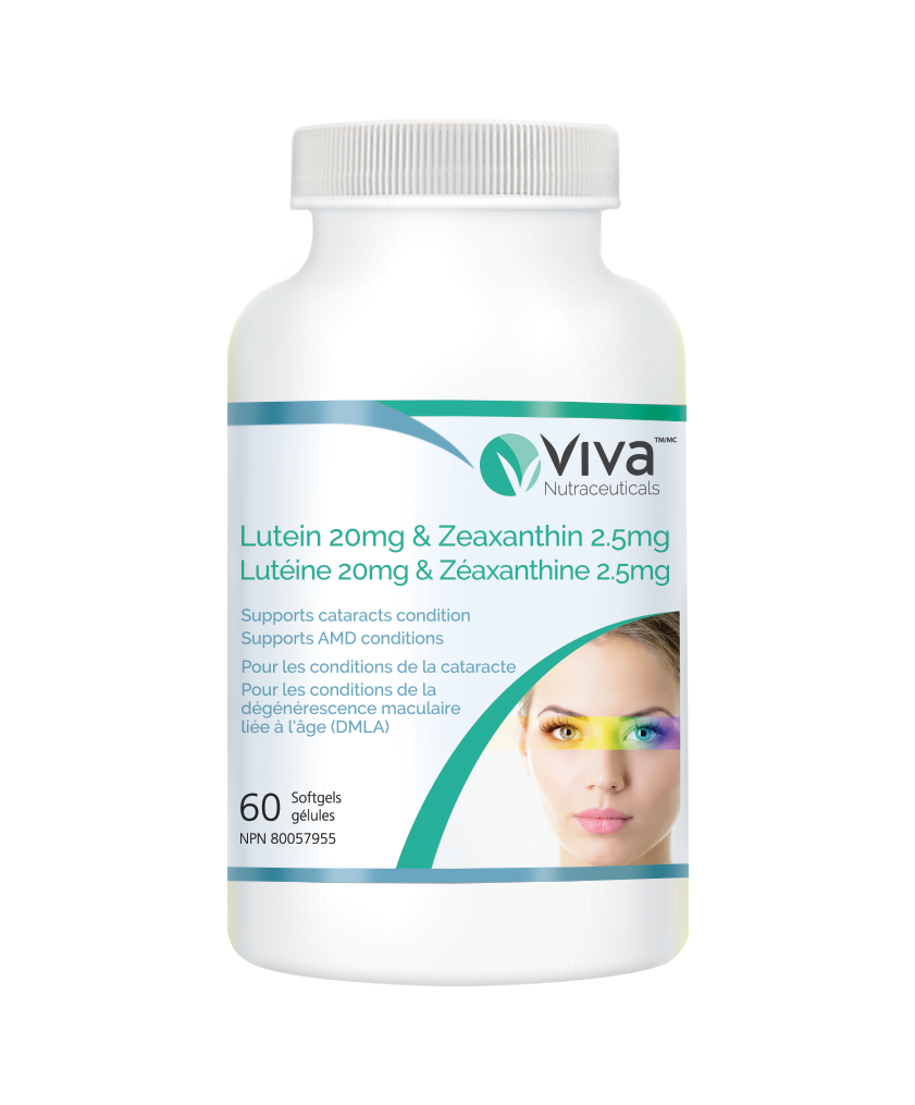 Viva Lutein 20mg & Zeaxanthin 2.5mg 叶黄素与玉米黄素 60粒软胶囊
