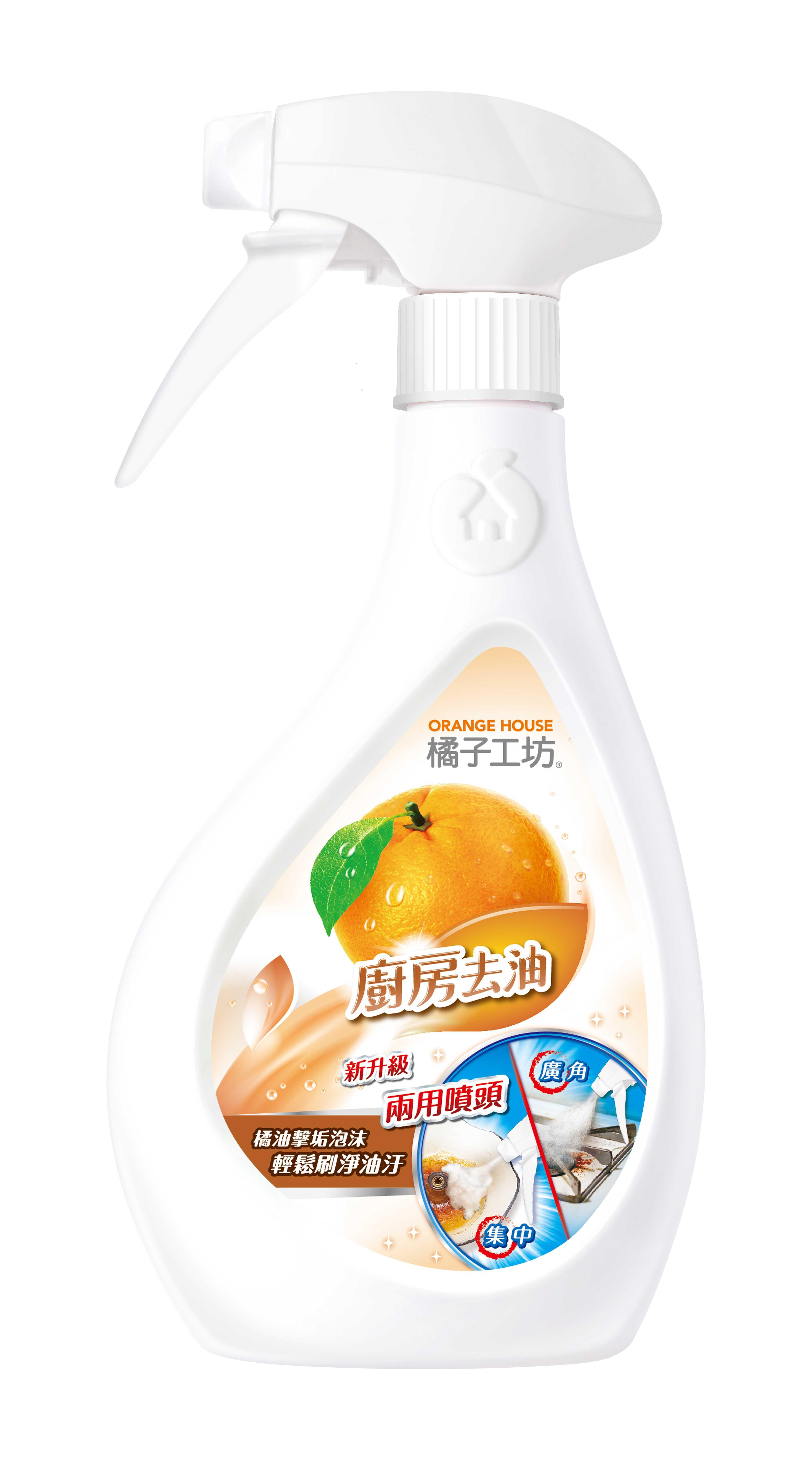 橘子工天然廚房爐具專用清潔劑(二用噴槍) 480ml