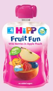 HiPP 有機野莓蘋果蜜桃唧唧裝 /6